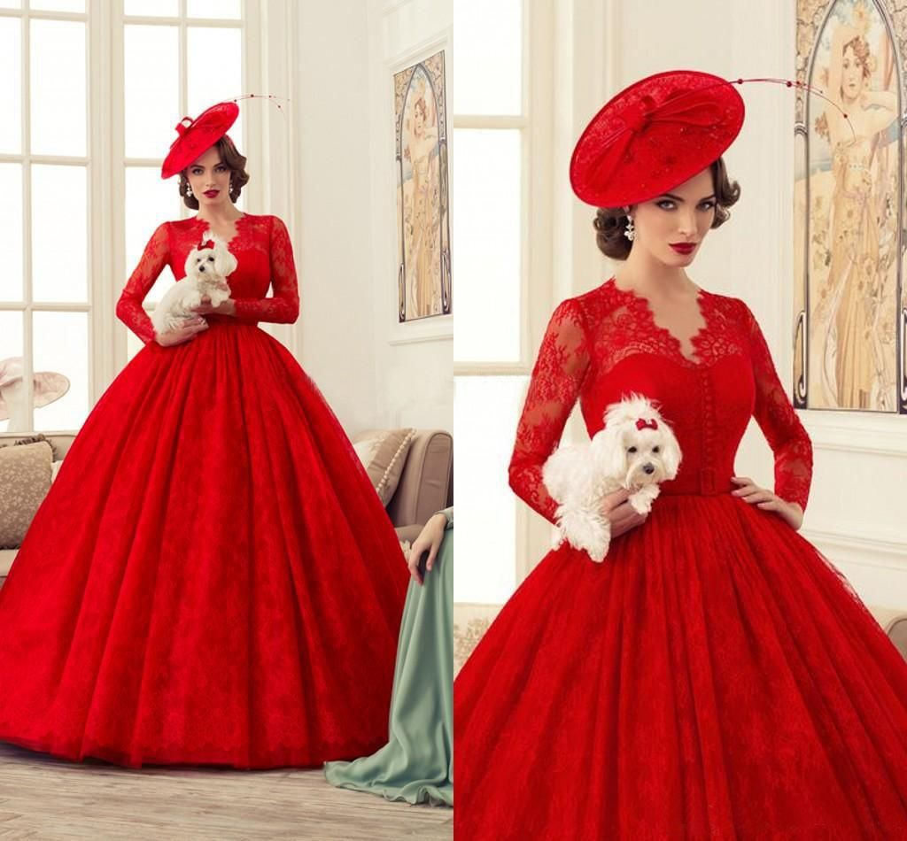 2015 Spring Ball Gowns Wedding Dresses Sweetheart V Neck Long