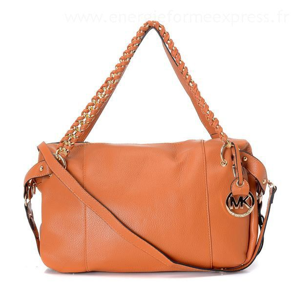 Michael Kors Cheap Smooth Outlook Large Orange Satchels This Is A Wonderful  For You!