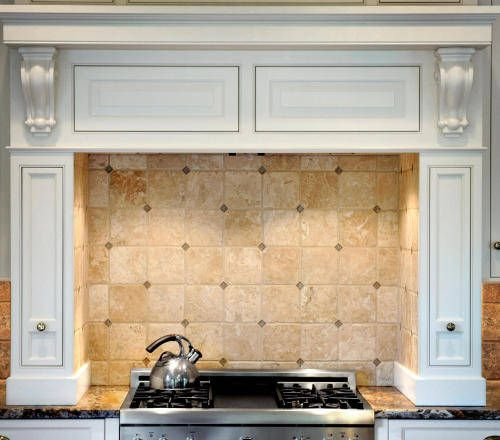 Jerusalem Gold Limestone Tile Backsplash