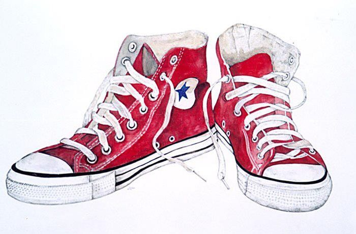 Done Red Chuck Taylors Sneaker Art Red Converse Converse