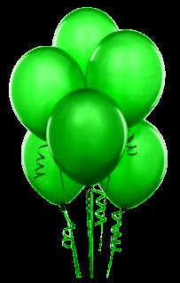 balloon green printable clip