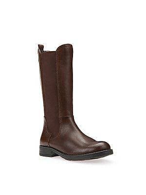 Geox Kid's Leather Blend Mid-Calf Boots