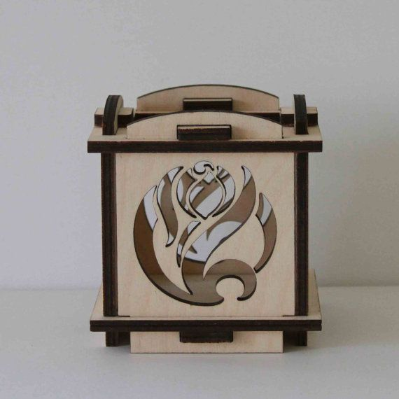 Laser Cut Wood Luminarie Tealight Lamp  Tulip by ellenstarr, $32.00