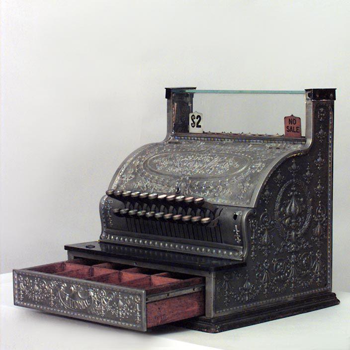 American Victorian Antique Adding Machine Silver Plated