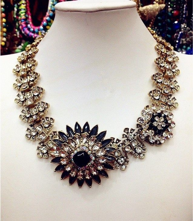 This season stock in Zara. Stunning crystal statement necklace. Special offer £16.50. Also available in vintage coloured crystals