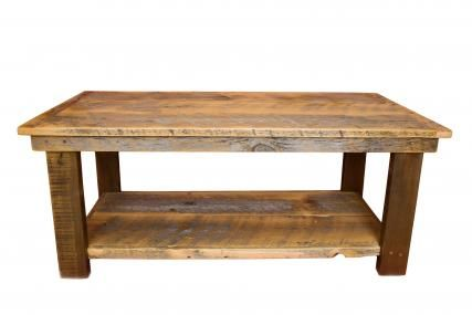 Rustic Barnwood Coffee Table From Black Timber Furniture Company