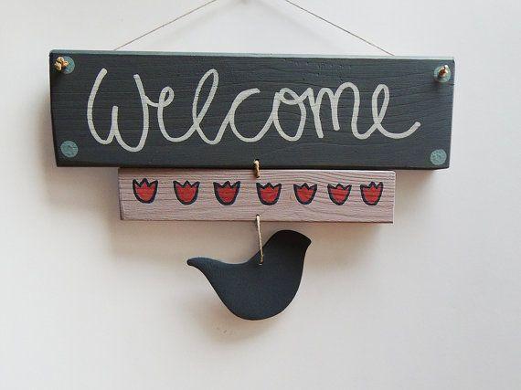 Superbe WELCOME SIGN, Gift Ideas, Door Hanger, Wooden Door Signs, Door Decorations,  Wooden Signs, Reclaimd Wood Sign, Pallet Sign, Home Decor Signs