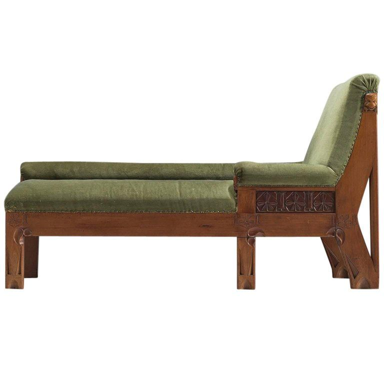 Early Dutch Chaise Longue In Oak 1930s From A Unique Collection Of Antique And Modern Chaise Longues At Https Www 1std Chaise Art Deco Interior Design Oak