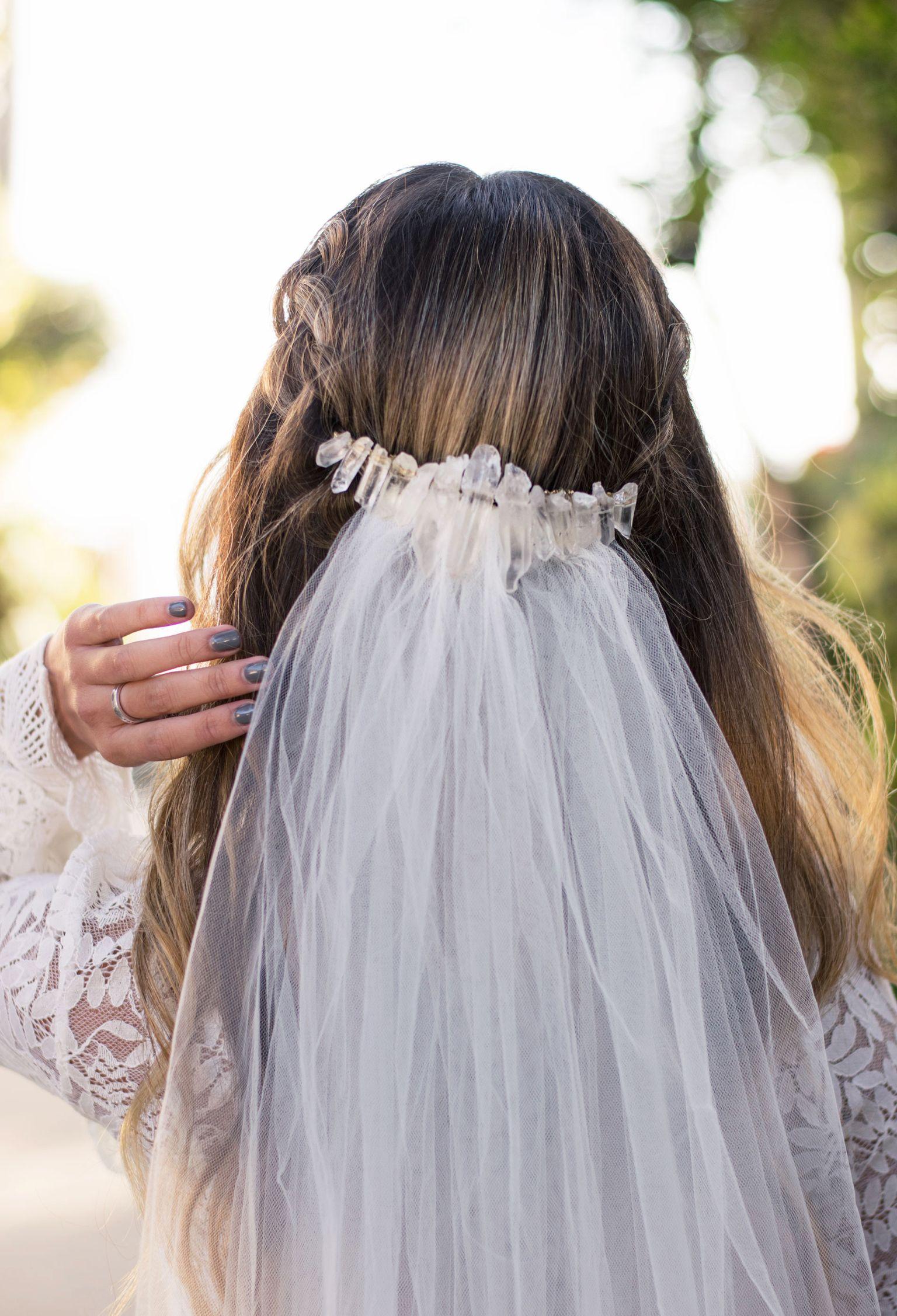 Large Crystal Wedding Back CrownCrystal HeadbandBridal Crown