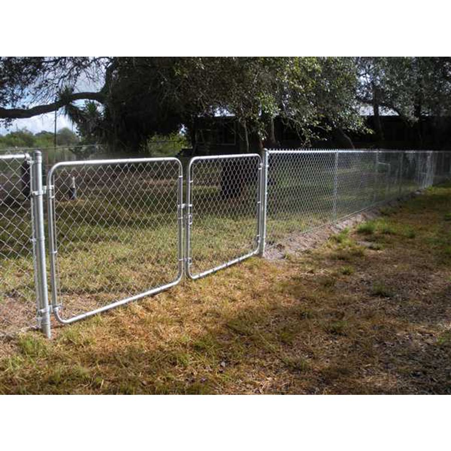 Shop Galvanized Steel Chain Link Fence Gate Common 10 Ft X 5 Ft Actual 9 5 Ft X 5 Ft At Lowes Com Backyard Fences Rustic Fence Modern Fence