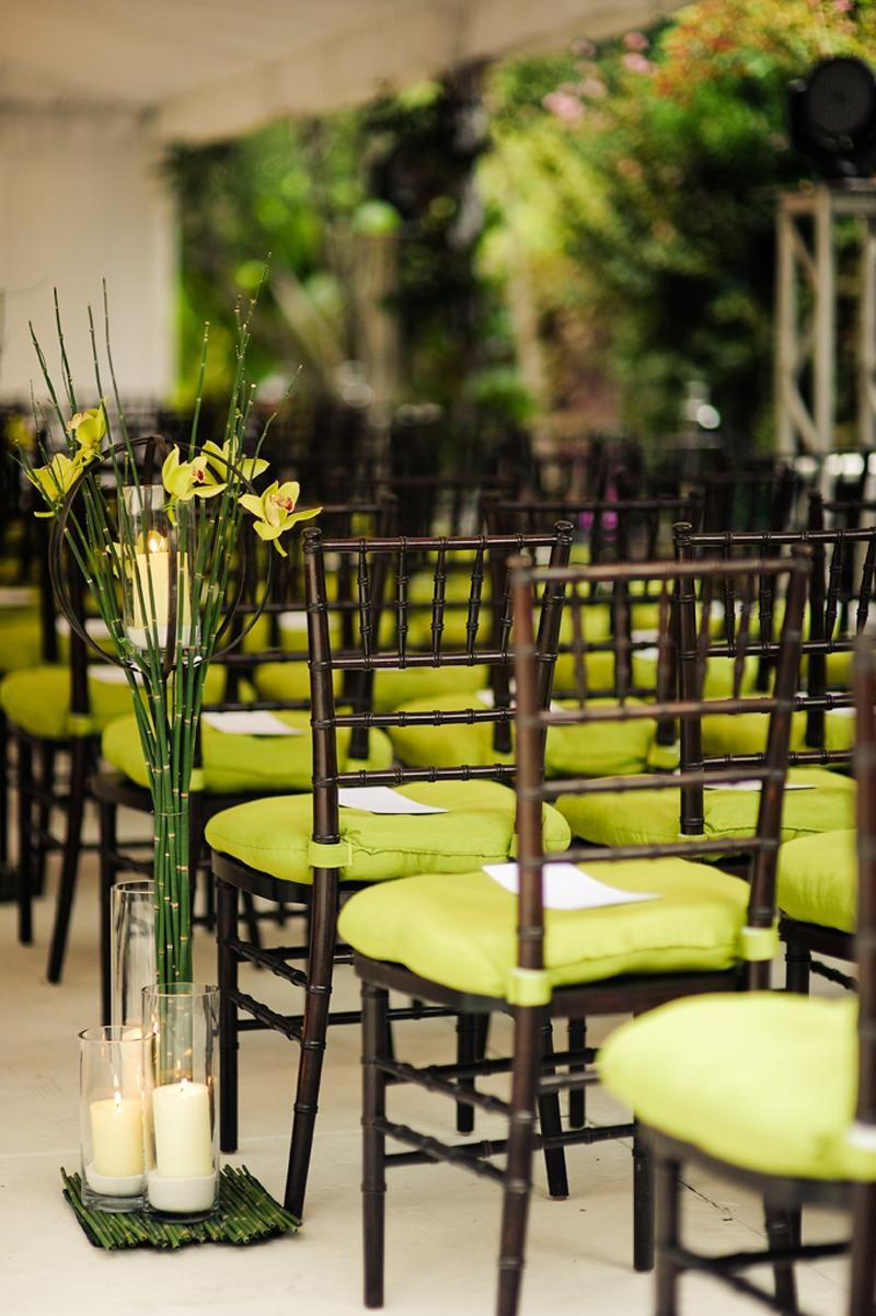 Pretty green aisle decor by New Leaf Florist. Rentals from ...