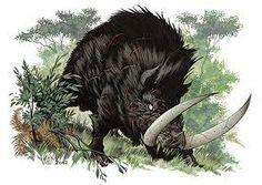 Erymanthian Boar Beastmedium Dire Boars With A Ferocious