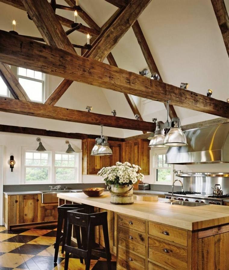 Poutre Apparente Comment Lintérgrer Dans Votre Intérieur - Interieur poutre apparente pour idees de deco de cuisine