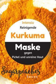 Indian turmeric beauty mask against blemished skin Do it yourself Make cosmetics yourself Here is the recipe for an Indian beauty mask against blemished skin