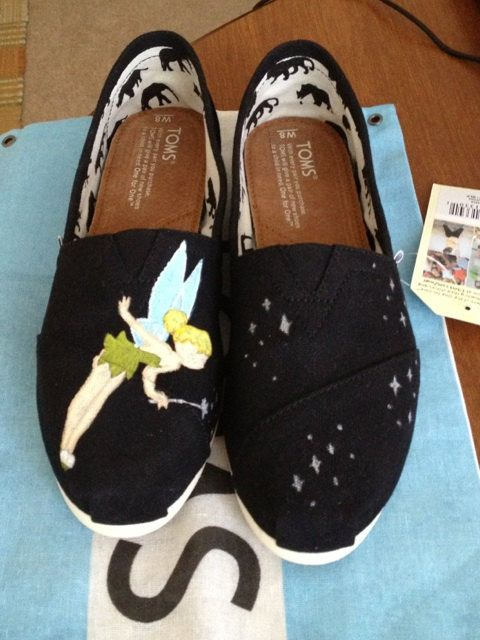 a44bf51889c Tinkerbell Inspired Custom Painted TOMS