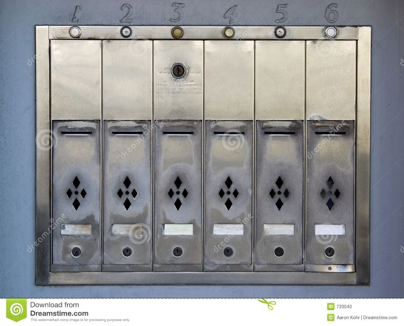 Apartment Mailboxes Stock Photo - Image: 733040 | Lobby Hero ...