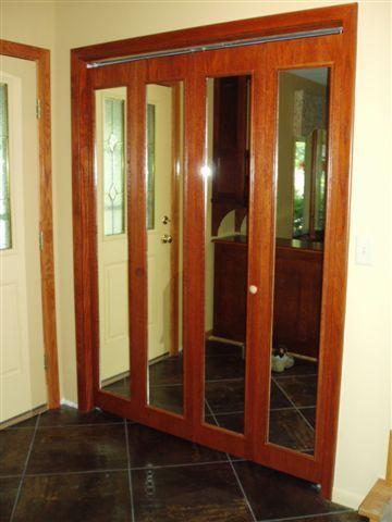 Bifold Closet Door Mirrored Bifold Bifold Door With Mirror