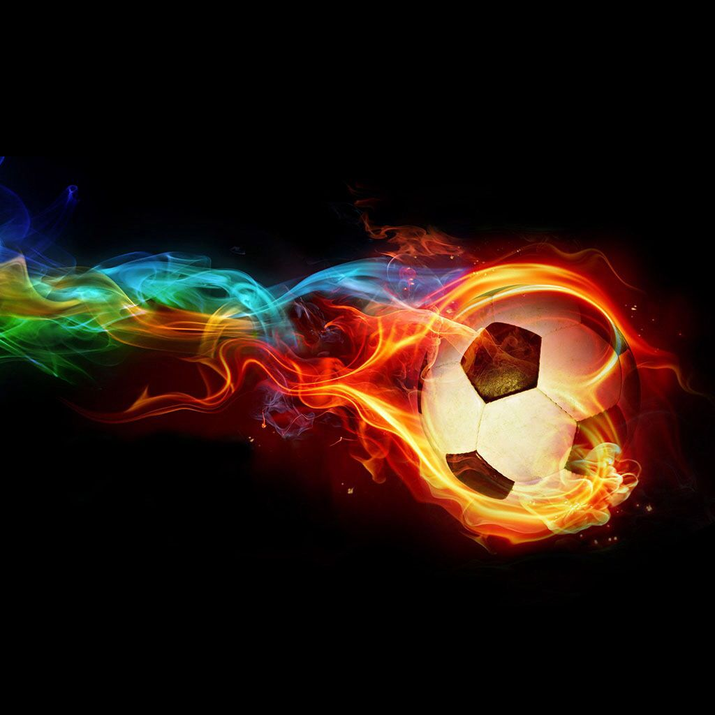 Flaming Soccer Ball Backgrounds