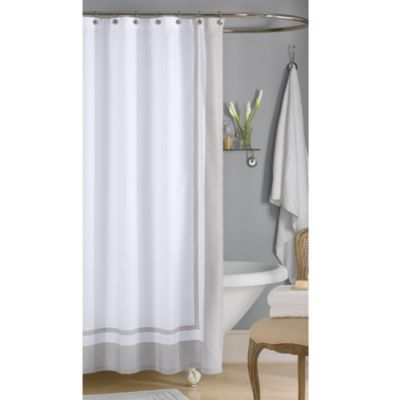 Buy Wamsuttaa Hotel 72 Inch X 96 Inch Extra Long Shower Curtain In Grey From Bed Bath Beyon Hotel Shower Curtain Long Shower Curtains Modern Shower Curtains