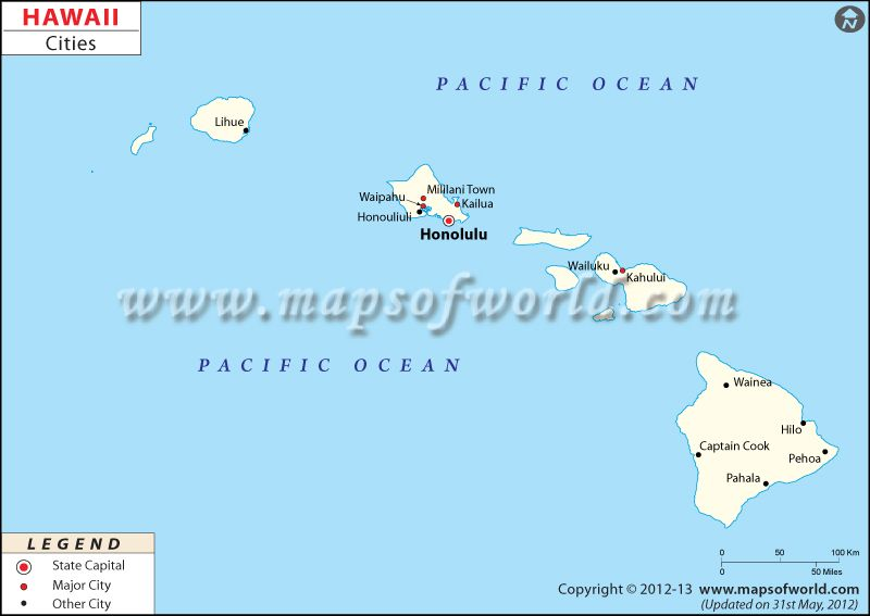 Hawaii Cities Map | USA Maps | Pinterest | City, Hawaii and City maps