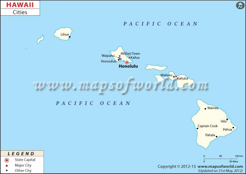 Hawaii Cities Map | USA Maps | Map of hawaii, Map, Hawaii
