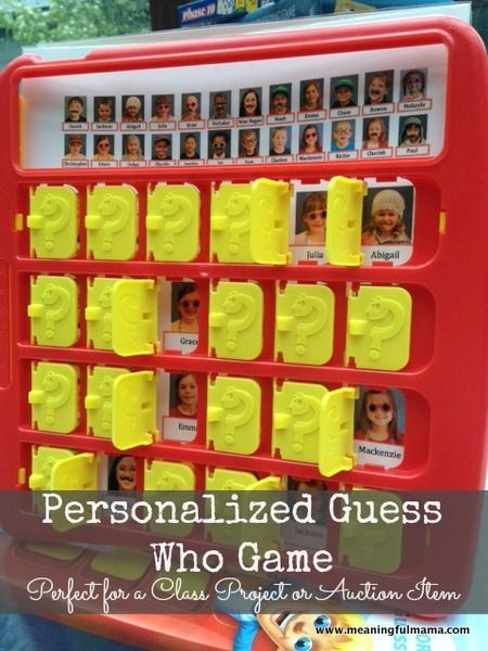 Classroom Auction Idea - Personalized Guess Who Game