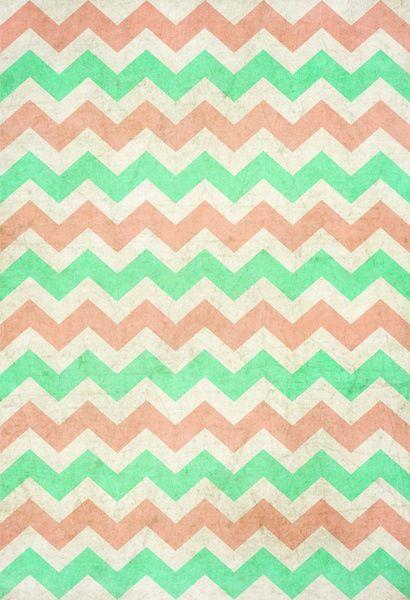 Best Coral Mint Chevron Chevron Wallpaper Mint Chevron 640 x 480