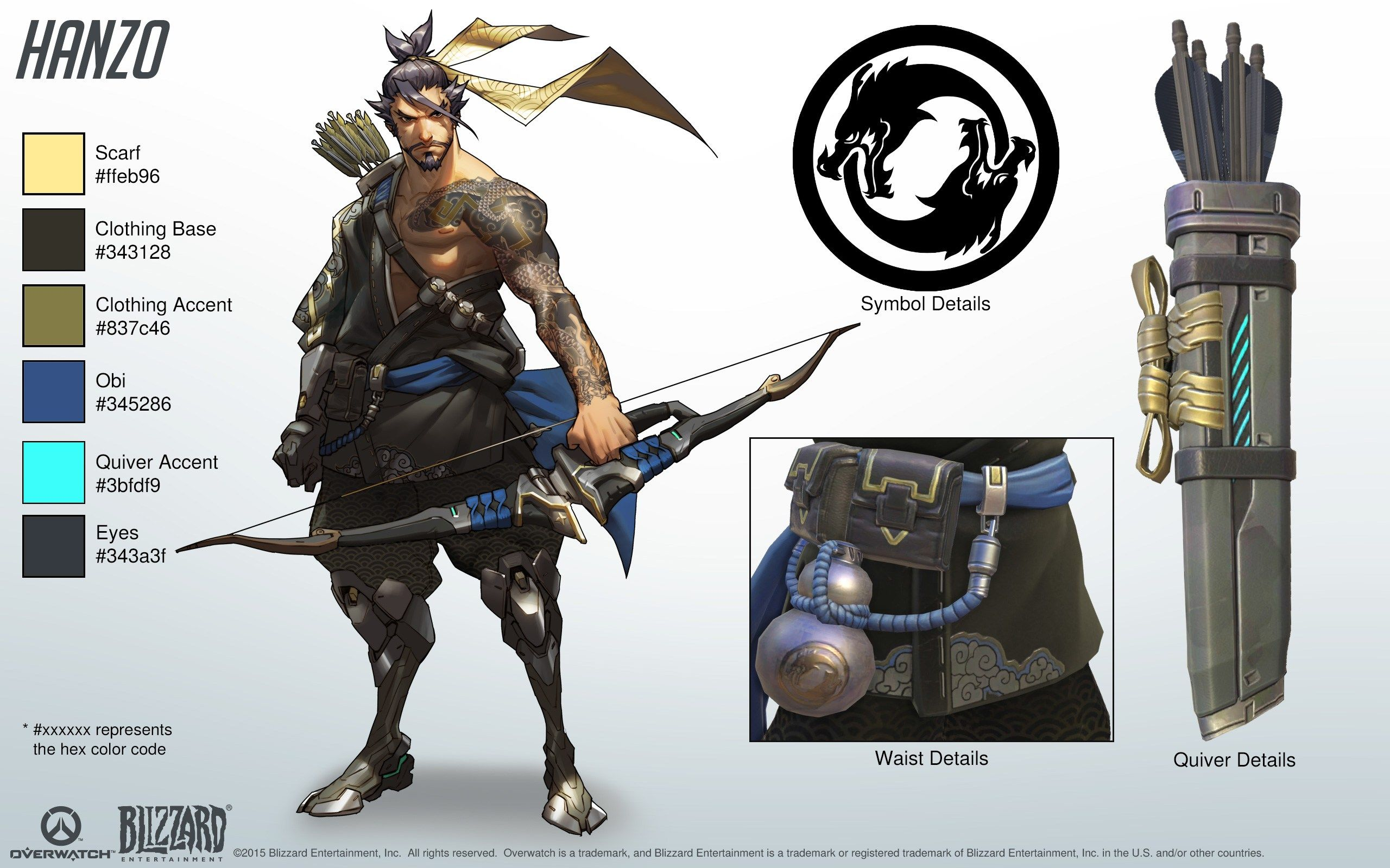 Overwatch Character Design Concept Art : Hanzo overwatch sheet character pinterest