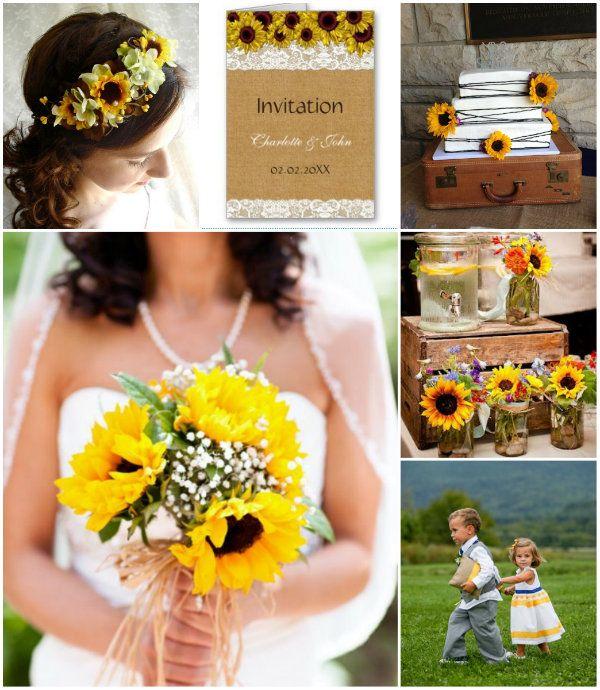 Hochzeitsdekoration mit sonnenblumen die besten momente for Hochzeitsdekoration hamburg