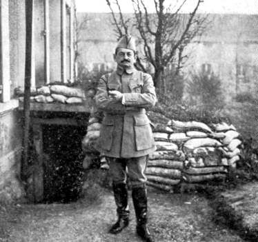 WW1 Photograph - Verdun, Mangin in front of his command post