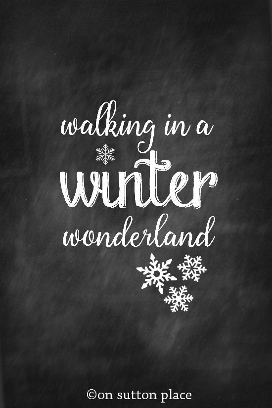 Click to download Hello Winter chalkboard printable. Click to download Walking in a Winter Wonderland chalkboard printable. Click to download Baby It's Cold Outside chalkboard printable. Are you a member of the OSP family? Please join us!