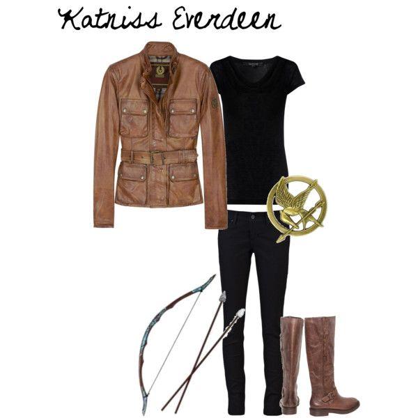 katniss everdeen the hunger games outfit halloween. Black Bedroom Furniture Sets. Home Design Ideas