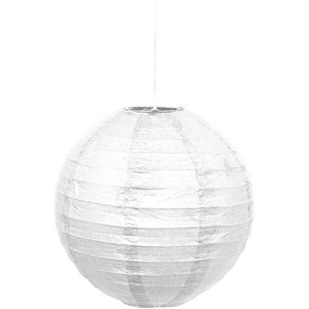 Paper Lanterns Walmart Simple 10 Inch White Paper Lantern  White Paper Lanterns White Paper And Design Inspiration