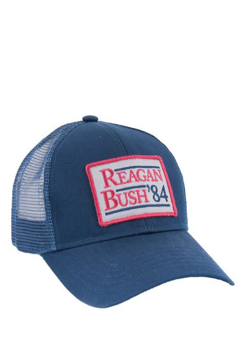 39a42bff8b47b Reagan Bush  84 Patch Mesh Hat - Navy