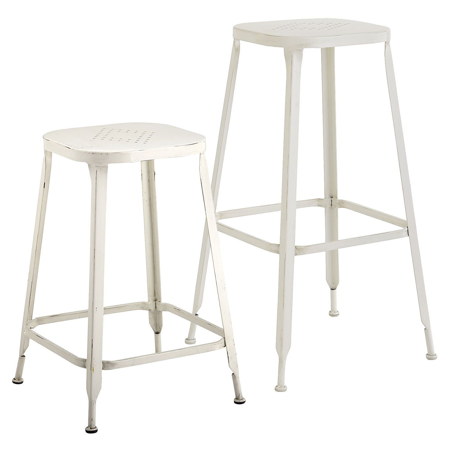 Weldon Backless Bar & Counter Stool Antique White