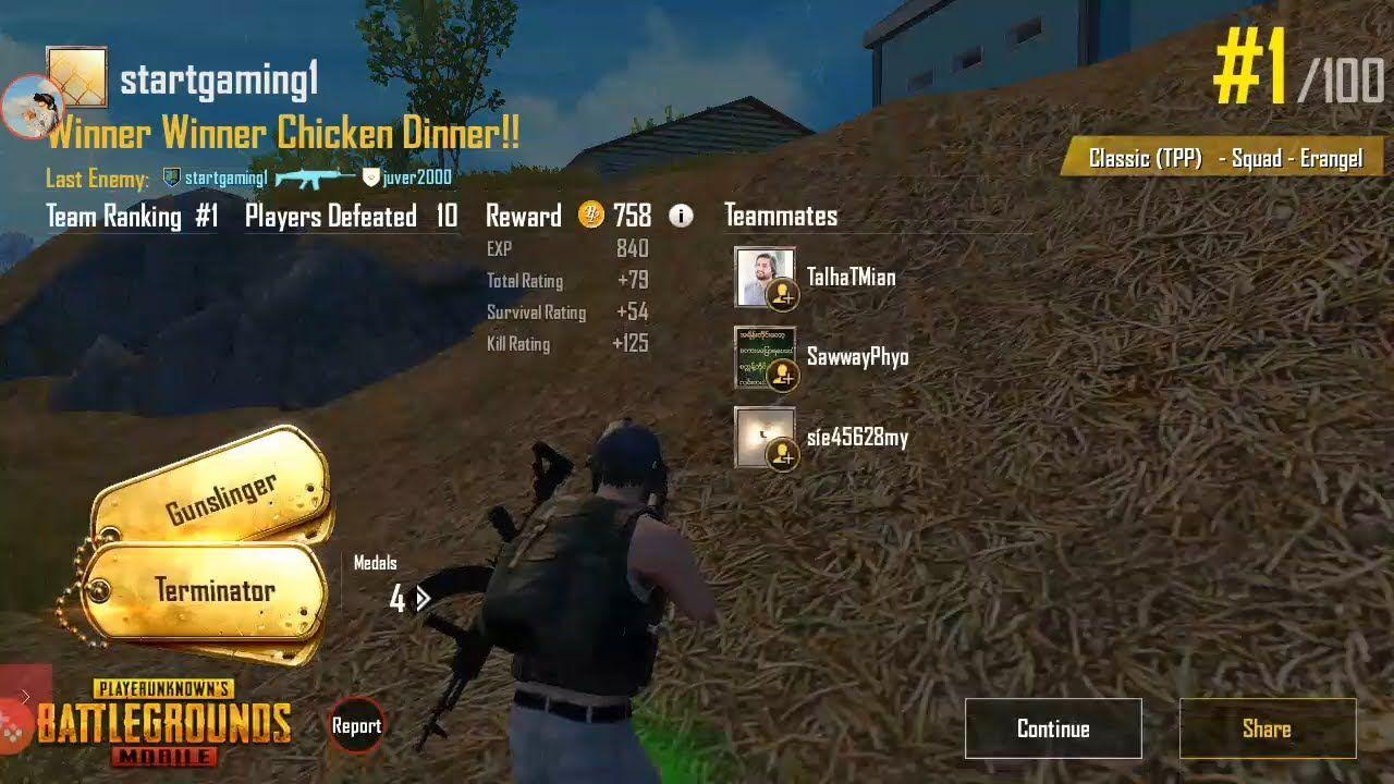 How To Win In Pubg 10kills Win Winner Winner Chicken