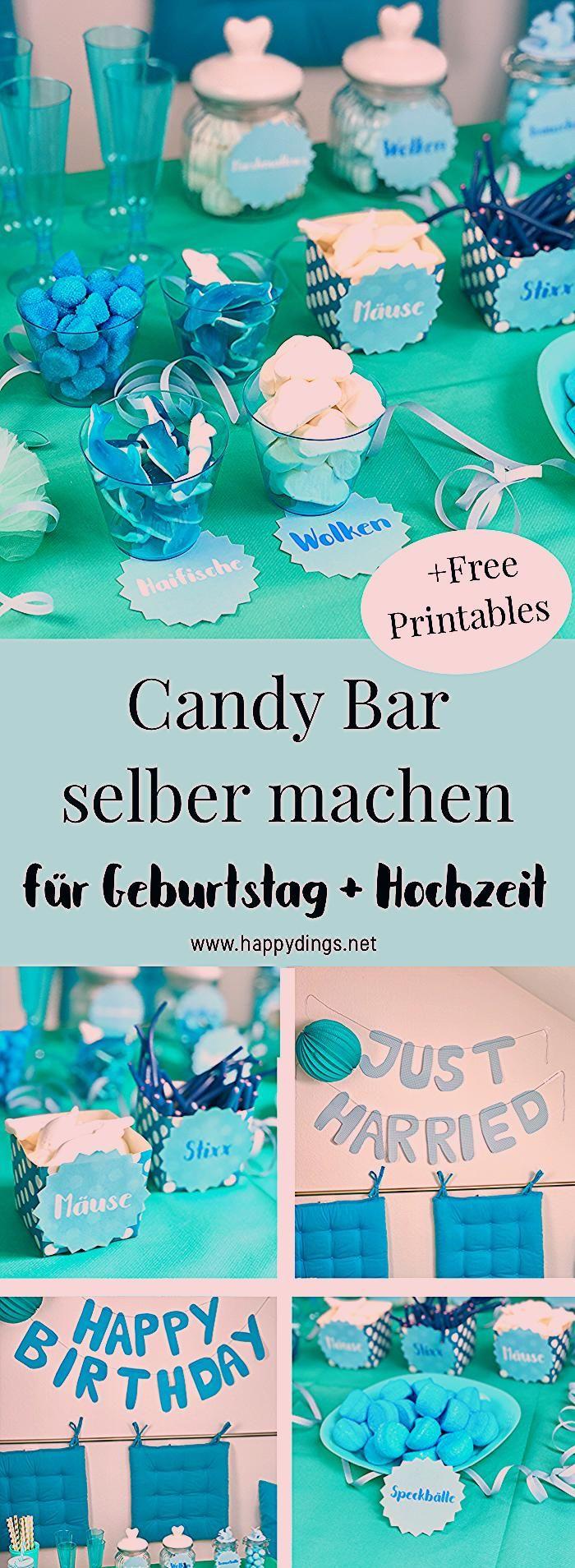 Photo of Candy Bar selber machen zur Hochzeit oder zum Geburtstag
