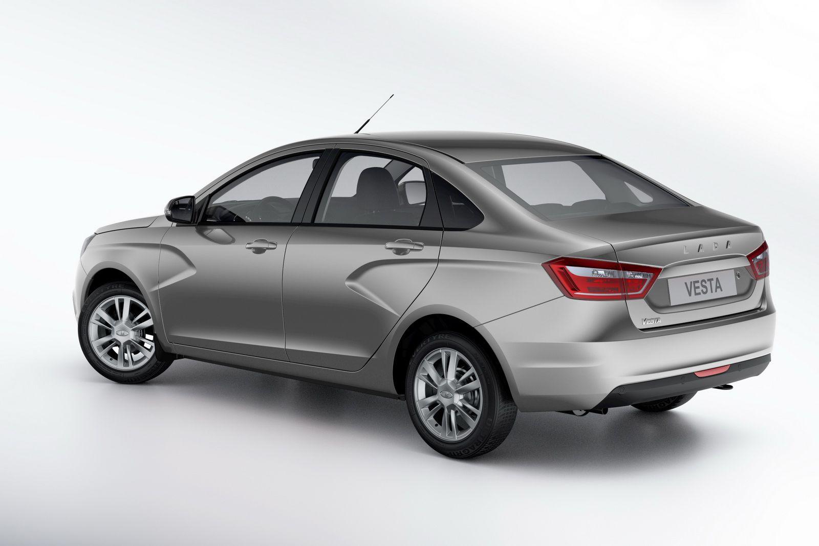 Avtovaz Starts Production Of All New Lada Vesta Sedan W Videos Carscoops Lada Vesta Vesta Sedan
