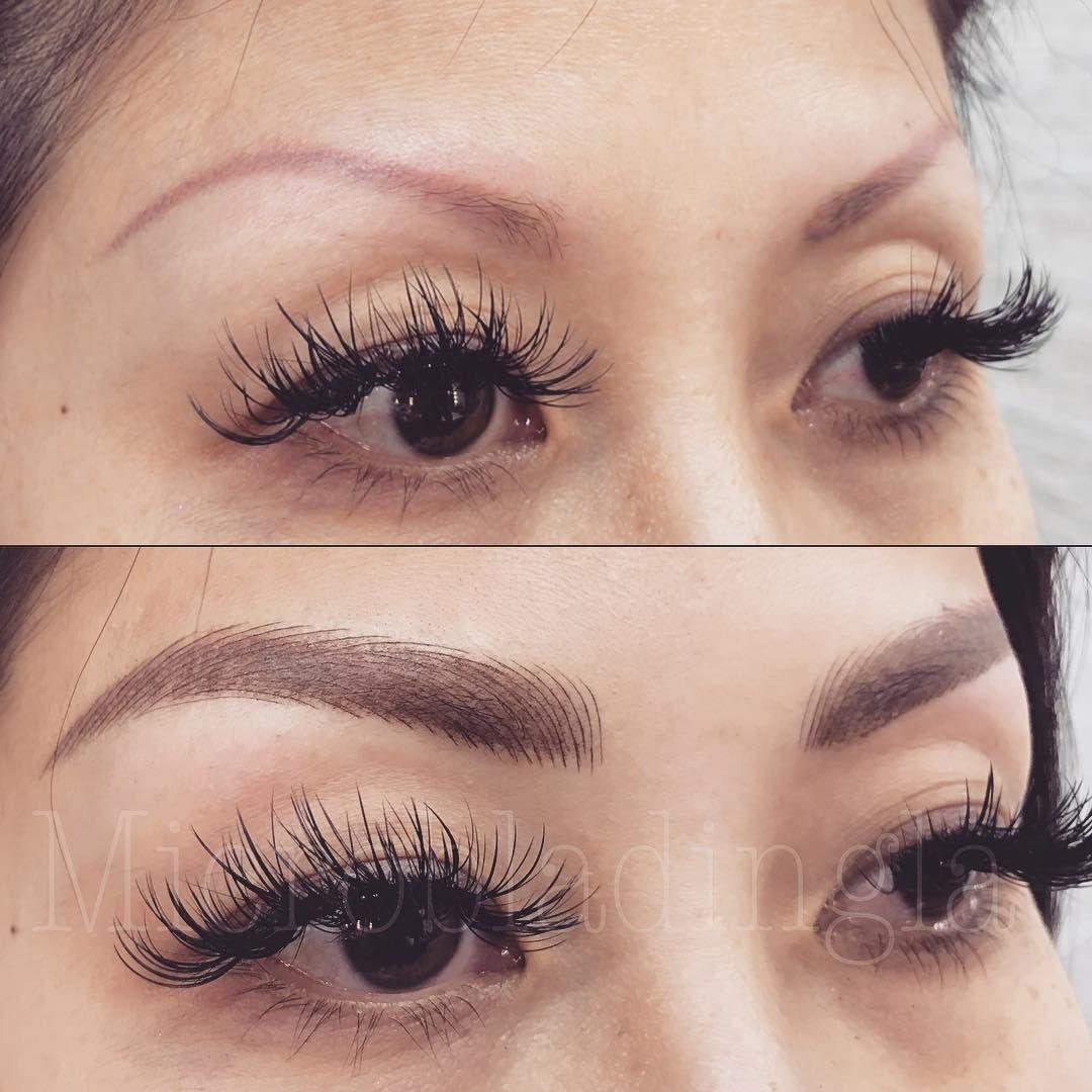 #EyelashExtensionsAftercare | Microblading eyebrows ...