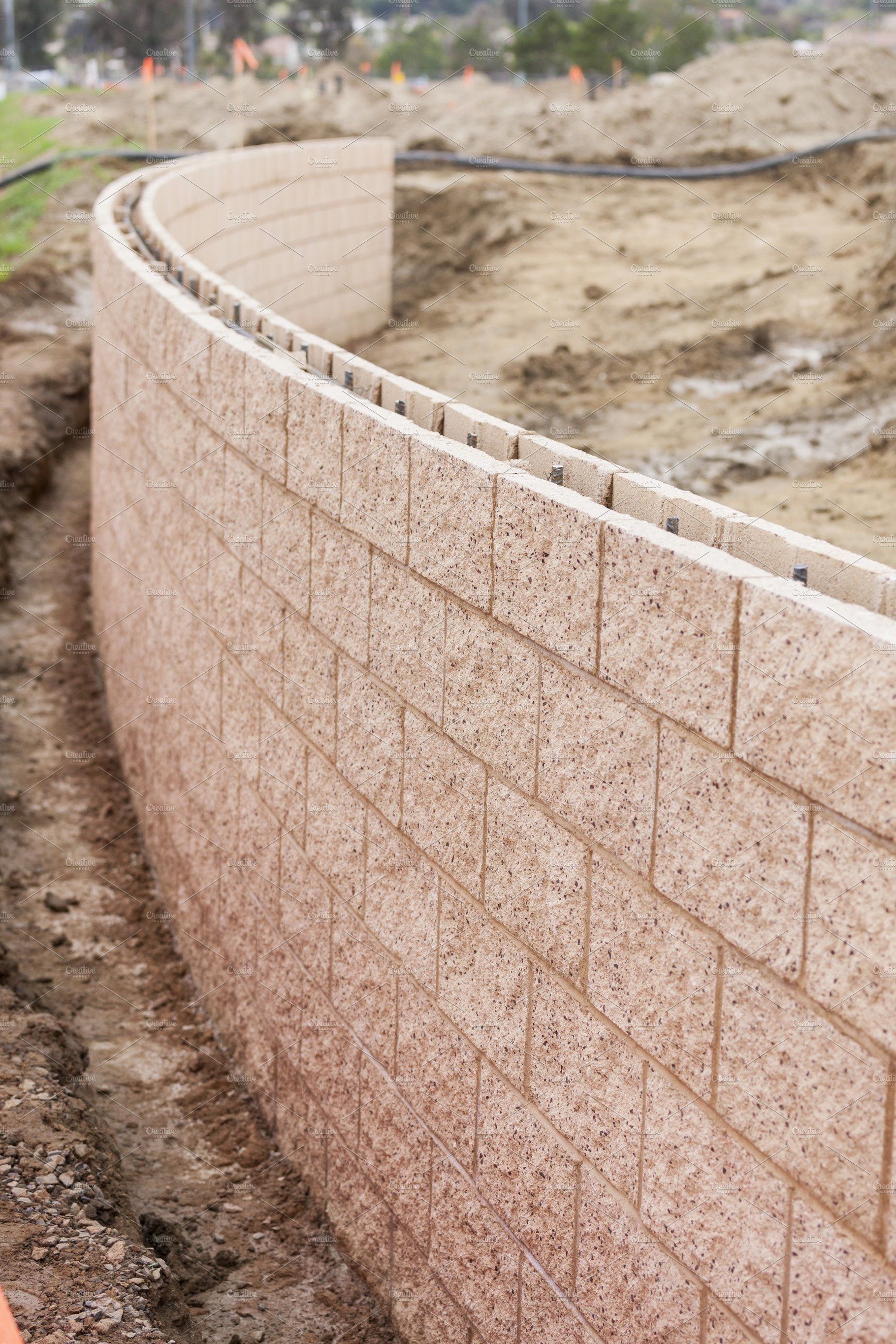 Curved New Outdoor Retaining Wall Concrete Retaining Walls Retaining Wall Blocks Retaining Wall
