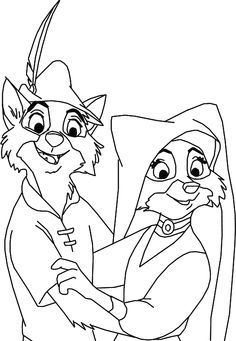 Robin Hood Printable Coloring Pages Disney Family Movie