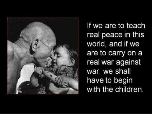 Gandhi Quotes On Peace Best Gandhi Quotes Gandhi Children And Peace Montessori Peace