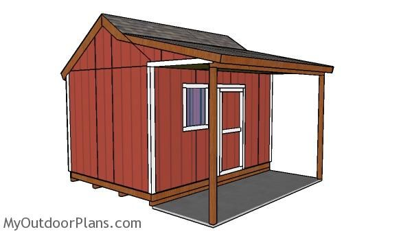 10x14 Shed With Porch Roof Plans Myoutdoorplans Free Woodworking Plans And Projects Diy Shed Wooden Playhous In 2020 Shed With Porch Porch Plans Shed Floor Plans