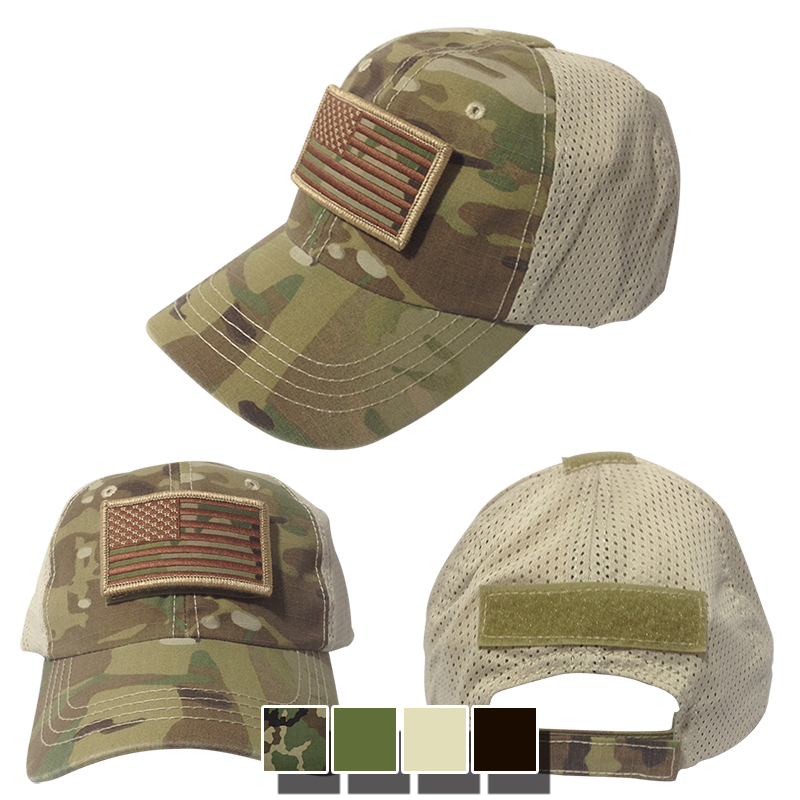 Nine Line Apparel - Velcro w  US Flag Patch - Mesh Back Hat c5848bb4919