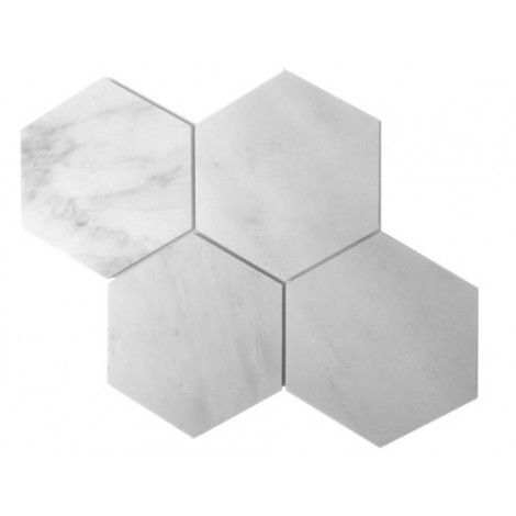 bianco white carrara marble honed mesh mounted in tile 6