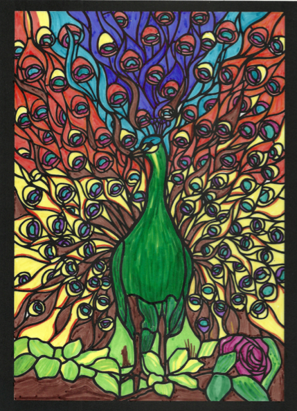 Liliana (18+ division) from Tiffany Designs Stained Glass Coloring Book: http://store.doverpublications.com/048626792x.html