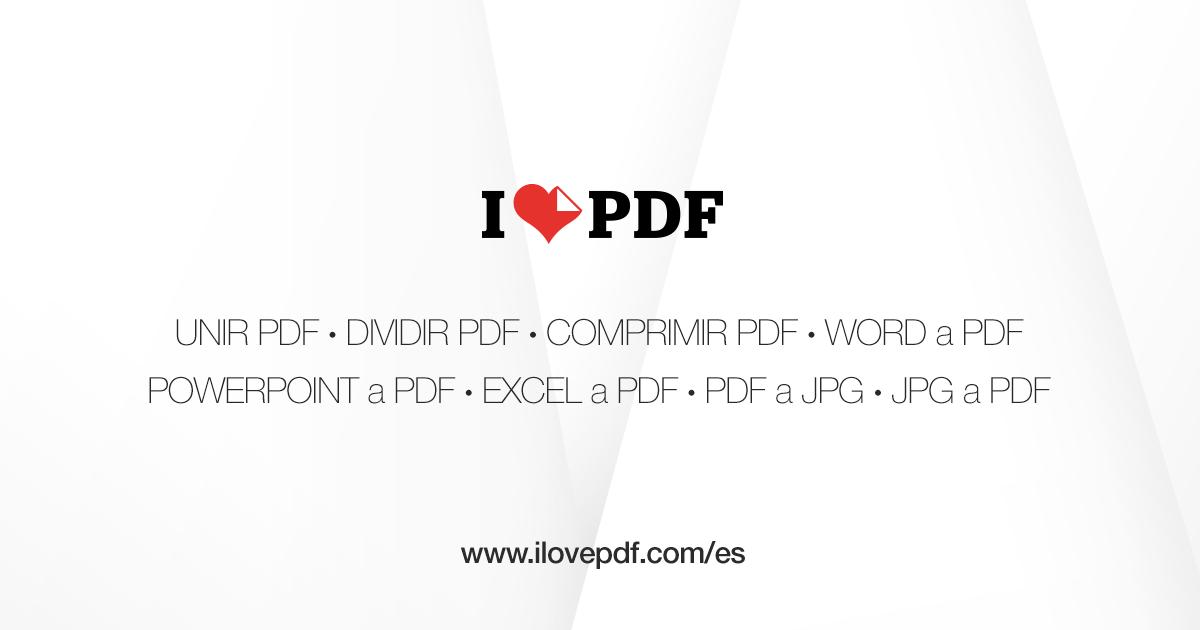 Ilovepdf Herramientas Pdf Online Gratis Herramientas Informática Archivadores