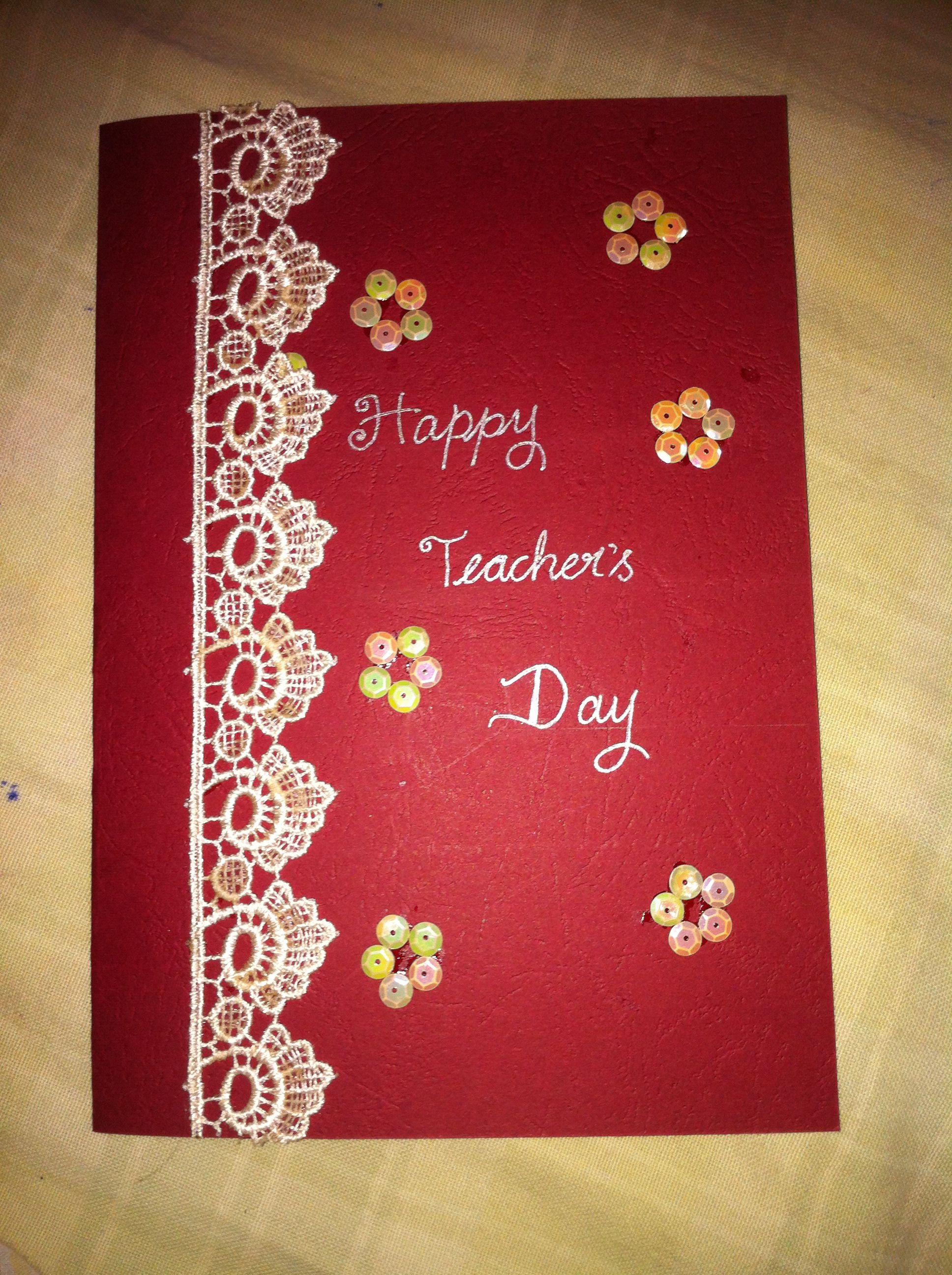 Teacher S Day Card Teachers Day Card Happy Teachers Day Cards