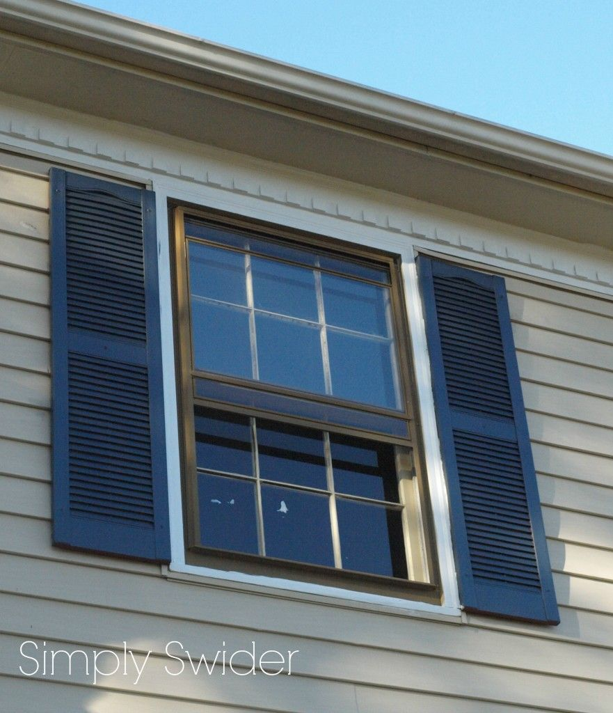 Exterior home colors with shutters - Exterior Paint Colors Dark Blue Shutter With Cream Siding
