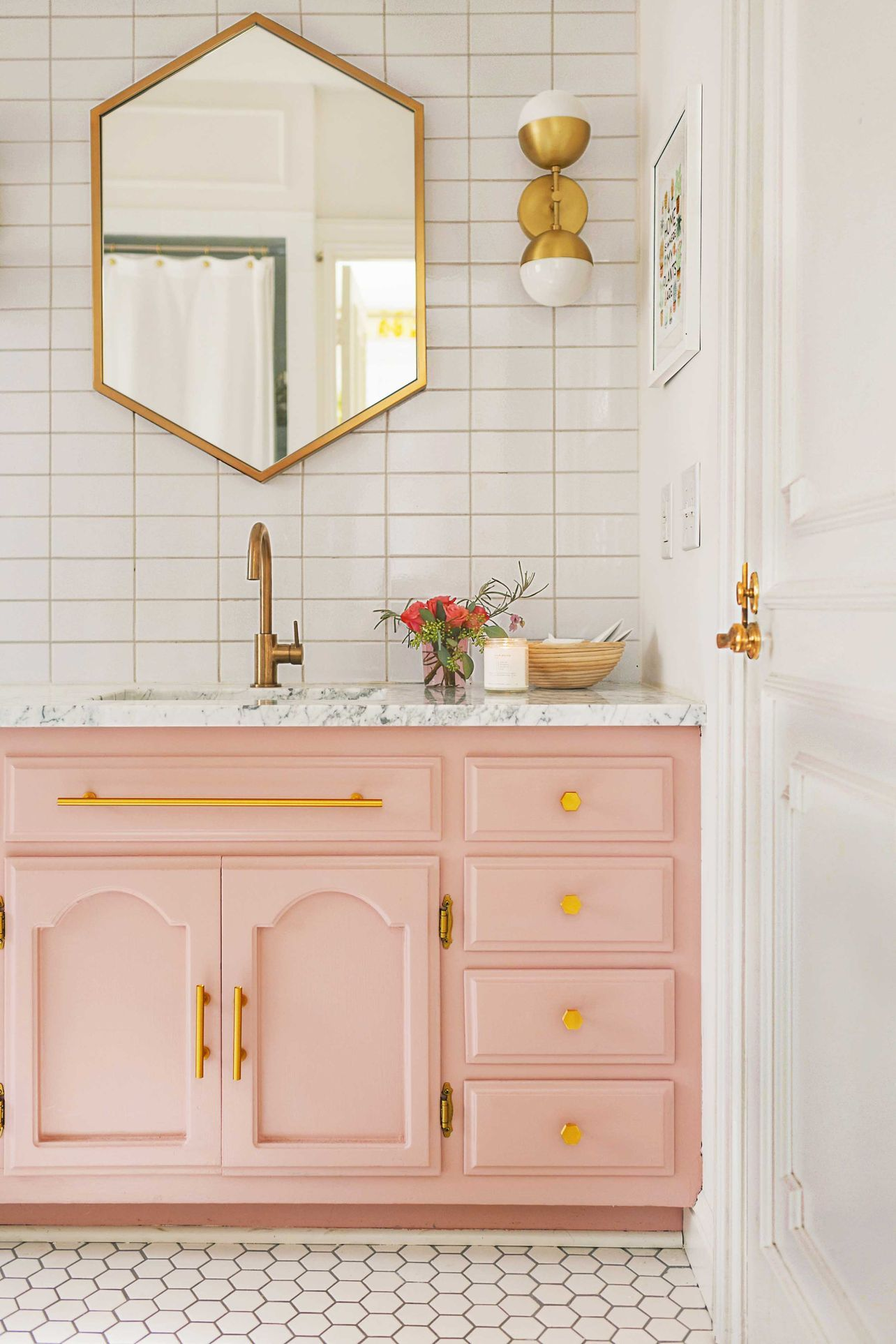 The Best Colors To Give Your Bathroom A New Look Bathroom Wall Colors Painted Vanity Bathroom Best Bathroom Colors Feminine bathroom decorating ideas